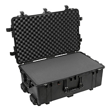 1650B Watertight Hard Case with Foam Inserts and Wheels - Black Image 0