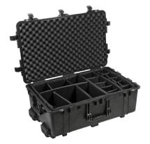 Pelican 1650B Watertight Hard Case w/Padded Dividers & Wheels - Black