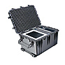 1660 Watertight Jumbo Hard Case with Foam Inserts and Wheels - Black Thumbnail 1