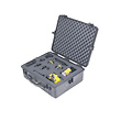1600 Watertight Hard Case with Foam Insert - Silver (Grey)