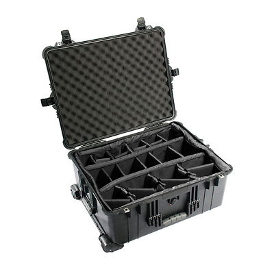 1614 Waterproof 1610 Case with Dividers (Black) Image 0