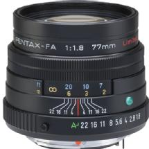 Pentax SMCP-FA 77mm f/1.8 Limited Series Autofocus Lens (Black)