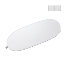 White/Silver Reversible LiteDisc 41x74in Oval Collapsible Reflector Image 0