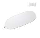 White/Silver Reversible LiteDisc 41x74in Oval Collapsible Reflector