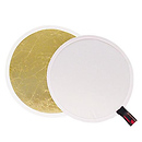 Soft Gold/White Reversible LiteDisc 52 in.