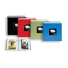 100 Pocket Fabric Frame Cover Photo Album (Assorted Colors) Image 0