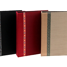 208-Pocket 4x6 Tone Fabric Photo Album Image 0