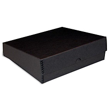 Print File 9x12x3in Black Drop-Front Metal Edge Box