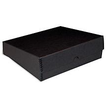 Print File 9x12x3in Black Drop-Front Metal Edge Box