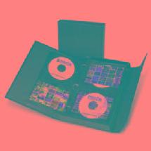 Print File CD Portfolio Binder Case with 12 preservers