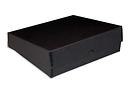 9x12x3in Black Drop-Front Metal Edge Box