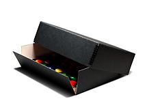 Print File 16x20 - 1.5in Drop-Front Metal Edge Box - Black