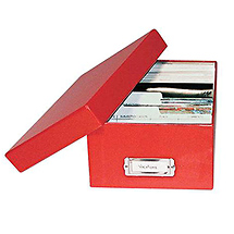 Print File Photo Storage Box Red