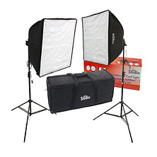 20 x 20' Quick-Folding Softbox Kit with Daylight Cool Flourescent Lamps Image 0