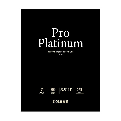 Photo Paper Pro Platinum, 8.5x11in., 20 Sheets Image 0