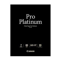 Canon Photo Paper Pro Platinum, 8.5x11in., 20 Sheets