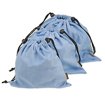 Microfiber Cleaning Pouch Light Blue 3.1 x 5.1 in.