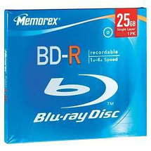 Memorex 4X BD-R 25GB (Single Jewel Case)