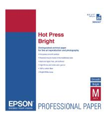 Epson Hot Press Bright Smooth Matte Paper, 8.5 x 11in. (25 Sheets)