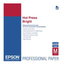 Epson Hot Press Bright Smooth Matte Paper, 13 x 19in. - 25 Sheets