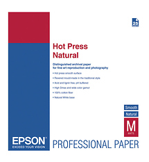 Epson Hot Press Natural Smooth Matte Paper, 13 x 19in. (25 Sheets)