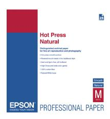 Epson Hot Press Natural Smooth Matte Paper, 17 x 22in. (25 Sheets)