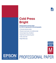 Cold Press Bright Textured Matte Paper, 17 x 22in. (25 Sheets) Image 0