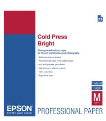 Epson Cold Press Bright Textured Matte Paper, 17 x 22in. (25 Sheets)