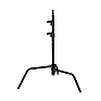 20 in. Century Lightstand Black Chrome