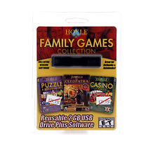 Pc Treasures 2GB USB Pocket Drive with Hoyle Family Games Collection
