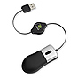 ReTrak Retractable Optical Mini Mouse Silver/Black