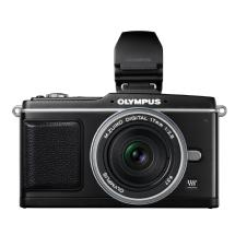 Olympus E-P2 Pen Digital Camera with 17mm f/2.8 Lens & Electronic Viewfinder (Black)