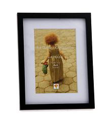 Dennis Daniels Gallery Wood Frame with Mat, Ebony - 4 x 6