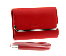 Samsung Slim Horizontal Leather Case (Red)