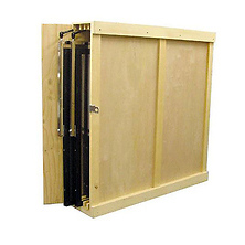 42x42 in. Wooden Reflector Storage Box 2 Place Slots Image 0