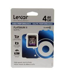 Lexar Media 4GB Platinum II 100x Class 6 Secure Digital (SDHC) Card