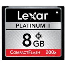 Lexar Media 8GB Platinum II 200x CompactFlash Memory Card