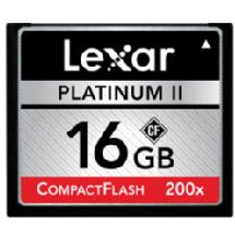 Lexar Media 16GB Platinum II 200x CompactFlash Memory Card