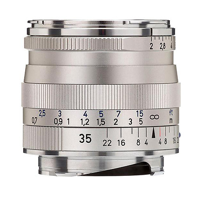 Zeiss 35mm f/2 0 Biogon T* ZM MF Lens (Leica M-Mount) - Silver