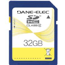 Dane-Elec 32GB Class 4 Secure Digital (SD) Memory Card