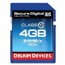 Delkin Devices 4GB Pro Class 10 SDHC Memory Card