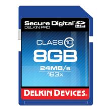 Delkin Devices 8GB Pro 163x Class 10 Secure Digital High Capacity Memory Card