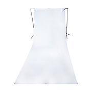 9 x 20 ft Wrinkle-Resistant Cotton Backdrop (Hi Key White)