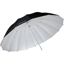 7' White/Black Parabolic Umbrella (White/Black) Image 0