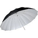 7' White/Black Parabolic Umbrella (White/Black)