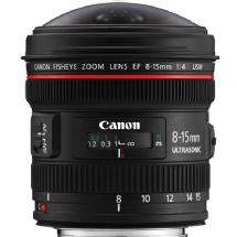 Canon EF 8-15mm f/4.0L Fisheye USM Fisheye Ultra-Wide Zoom Lens