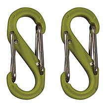 S-Biner Size-0, Double Gated Carabiner (2 Pack - Lime) Image 0