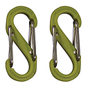 S-Biner Size-0, Double Gated Carabiner (2 Pack - Lime)