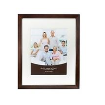 Prinz 16 x 20 Dakota Gallery Dark Walnut Wood Wall Frame - 11 x 14 Mat