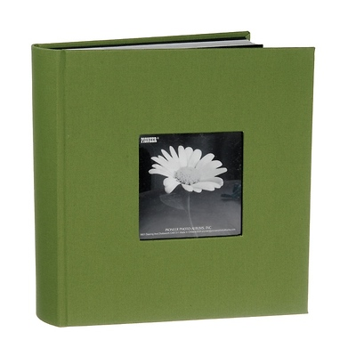 4 x 6 Natural Colors Fabric Green Photo Album Image 0